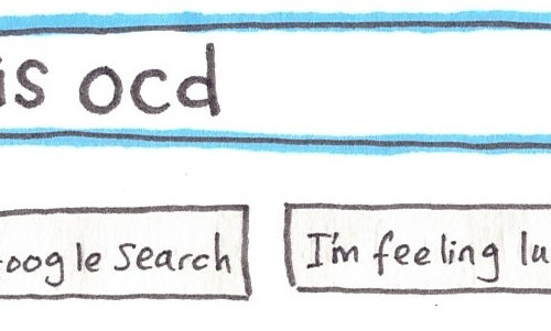 Google Search OCD Illustration