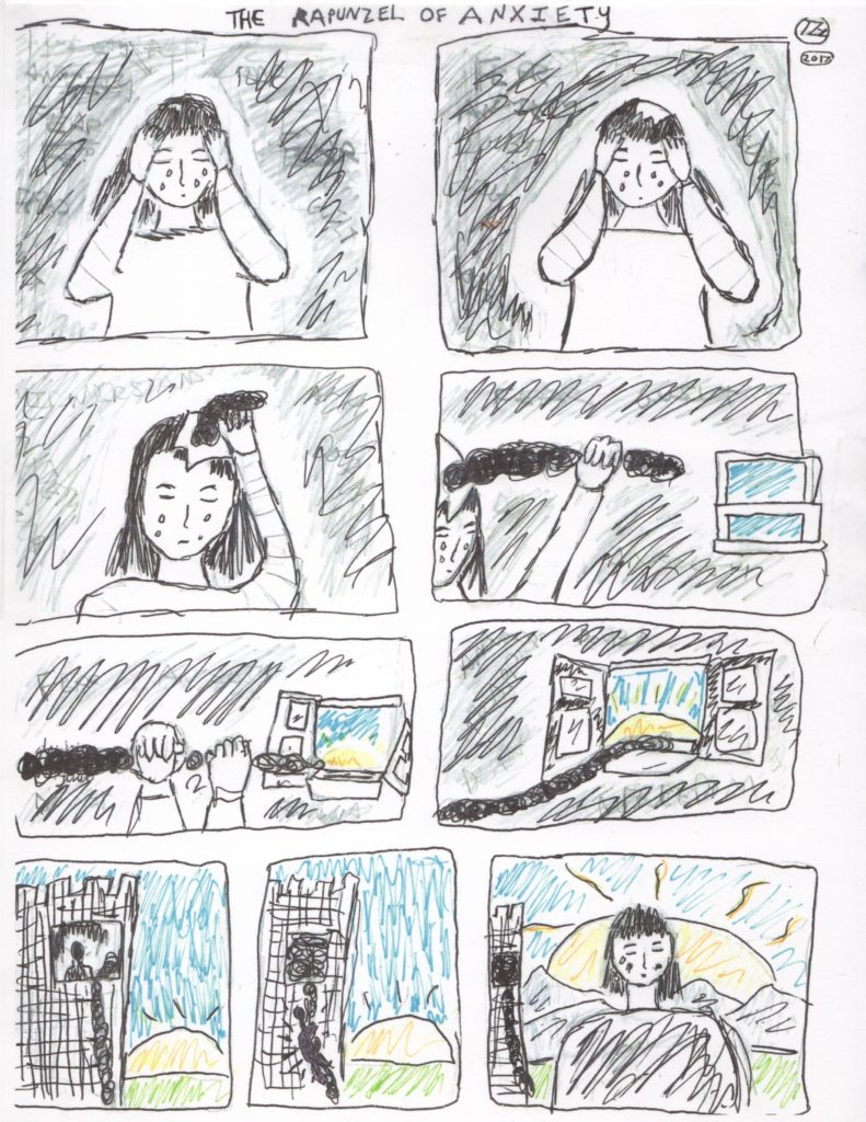 Repunzel of anxiety comic